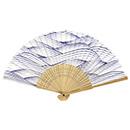 【2D9765】すす竹扇子 波